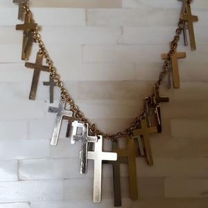 """Necklace / Crosses / 20"""" long / Lobster Clasp"""